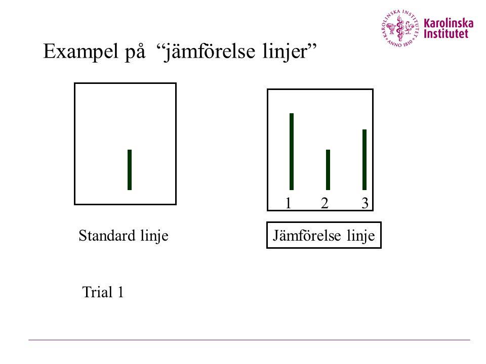 Exampel på jämförelse linjer