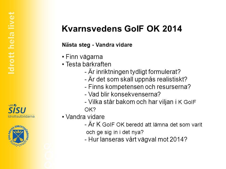 Kvarnsvedens GoIF OK 2014 Finn vägarna Testa bärkraften