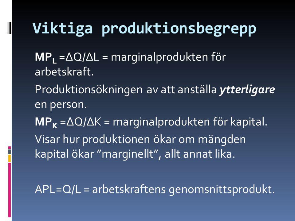 Viktiga produktionsbegrepp
