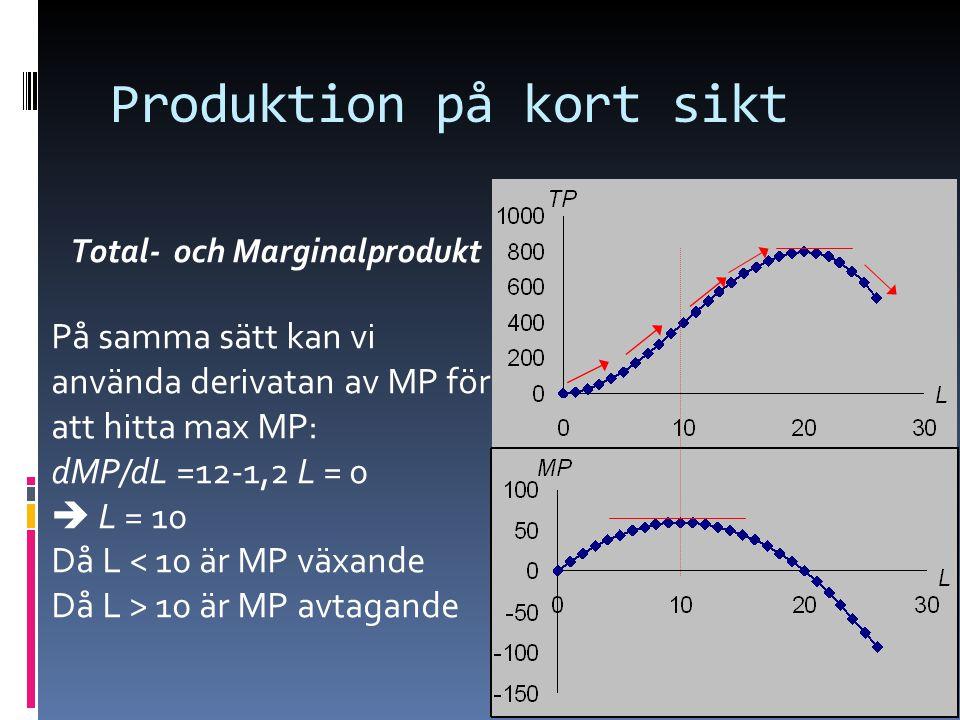 Produktion på kort sikt