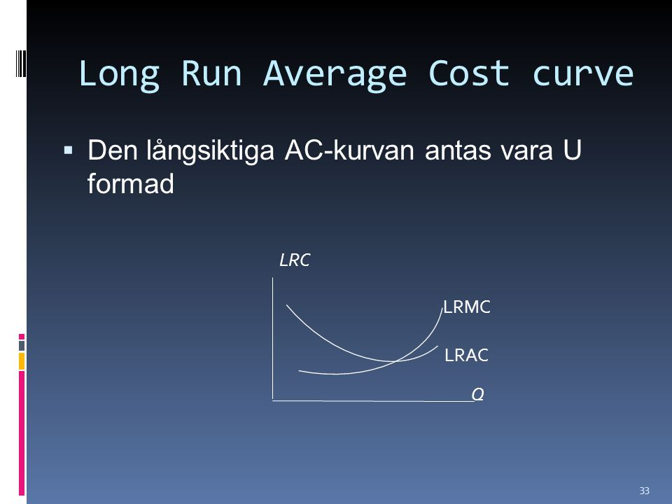 Long Run Average Cost curve