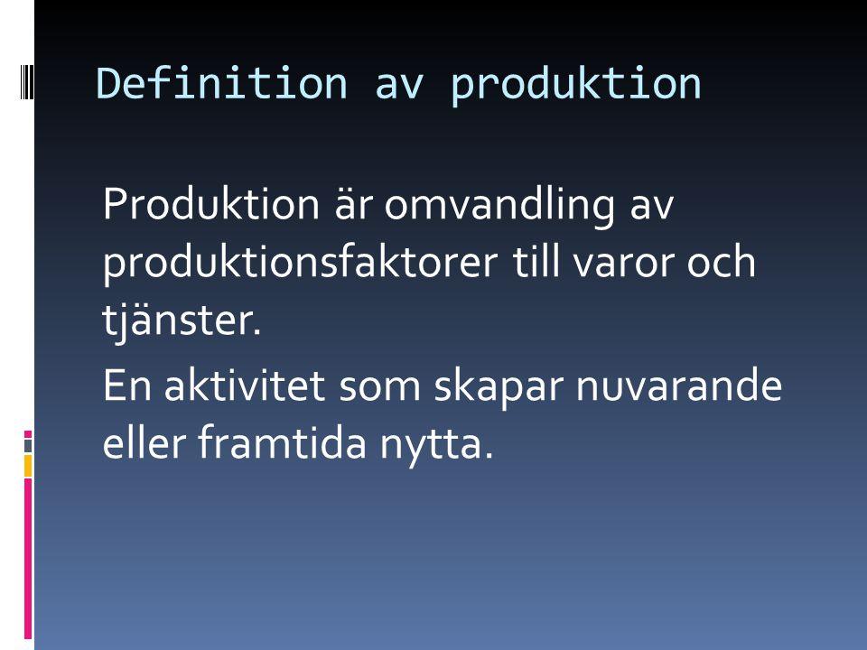 Definition av produktion