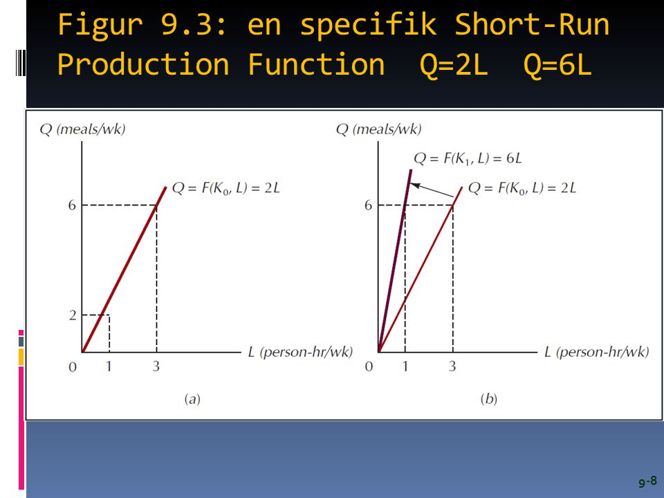 Figur 9.3: en specifik Short-Run Production Function Q=2L Q=6L