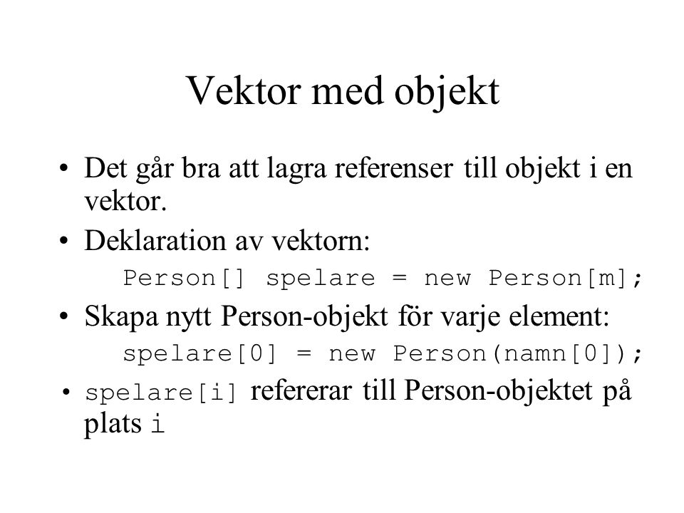 Programmeringsteknik för Media1 & K1