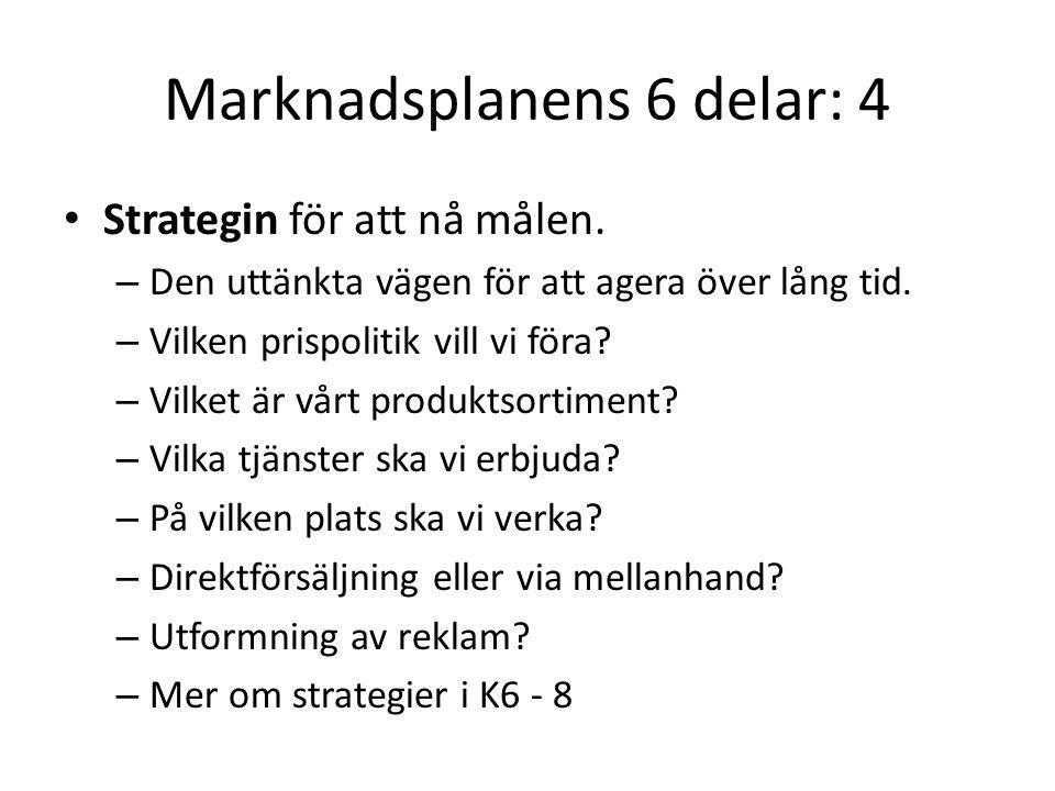 Marknadsplanens 6 delar: 4