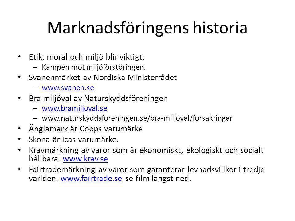 Marknadsföringens historia