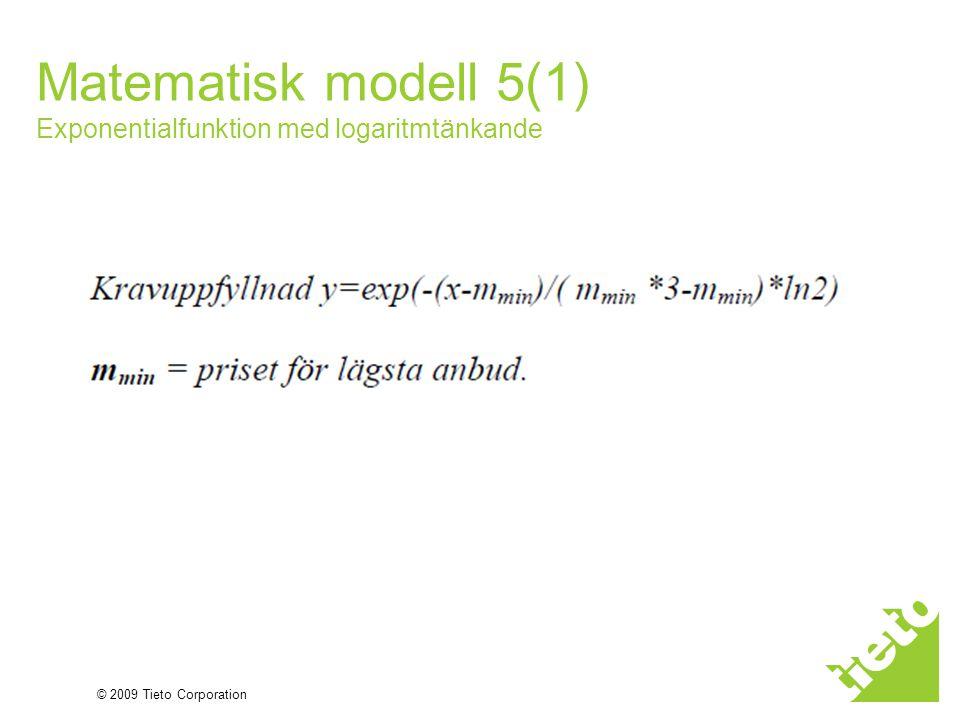 Matematisk modell 5(1) Exponentialfunktion med logaritmtänkande