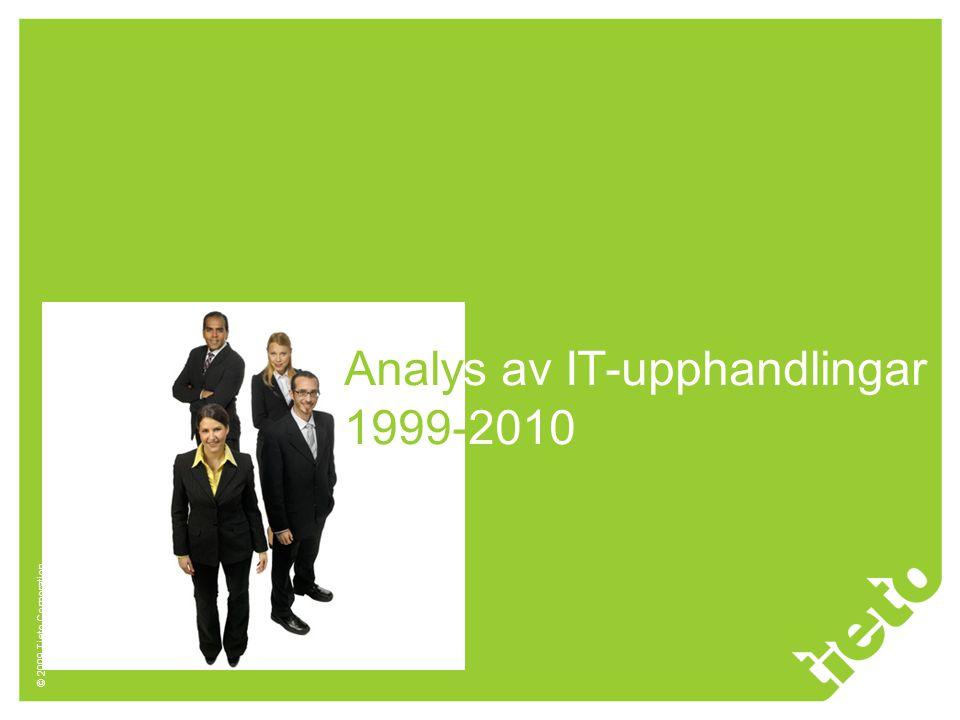 Analys av IT-upphandlingar 1999-2010