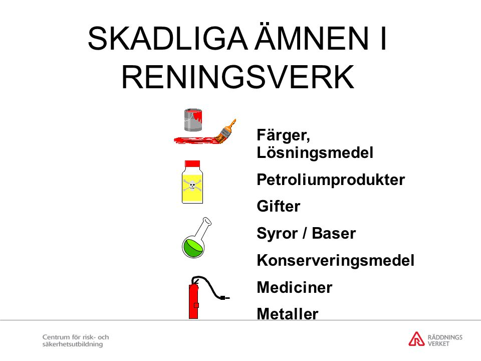 SKADLIGA ÄMNEN I RENINGSVERK