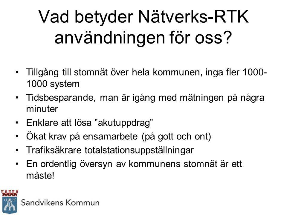 Vad betyder Nätverks-RTK användningen för oss