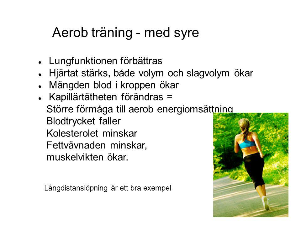 Aerob träning - med syre