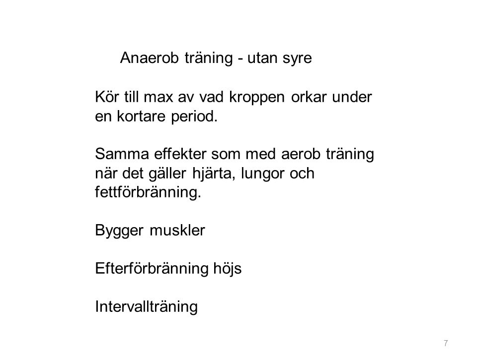 Anaerob träning - utan syre