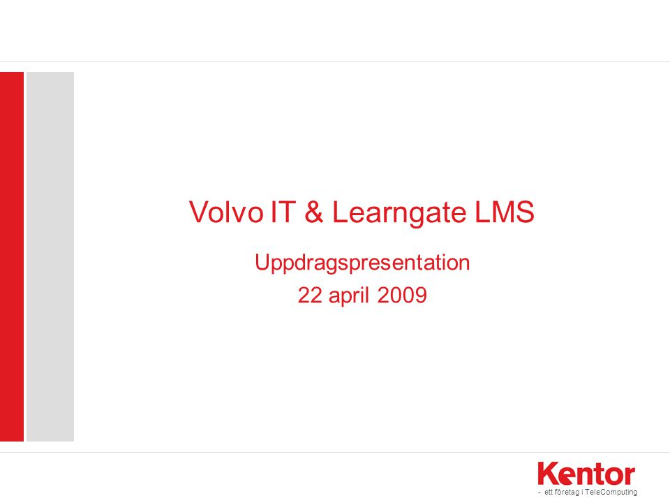 Volvo IT & Learngate LMS