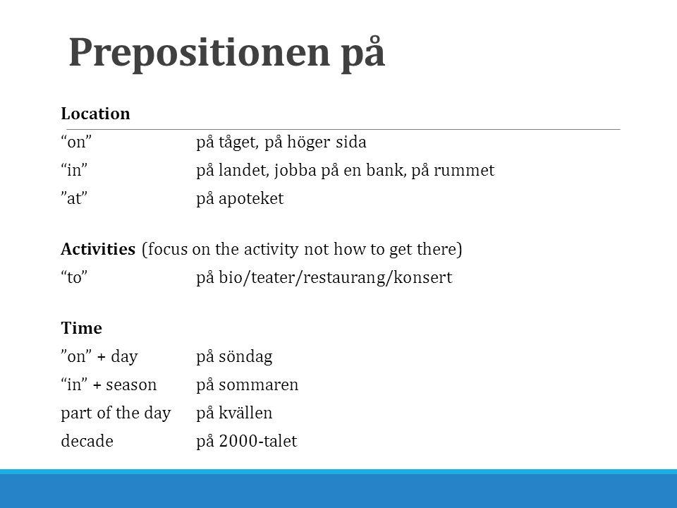 Prepositionen på
