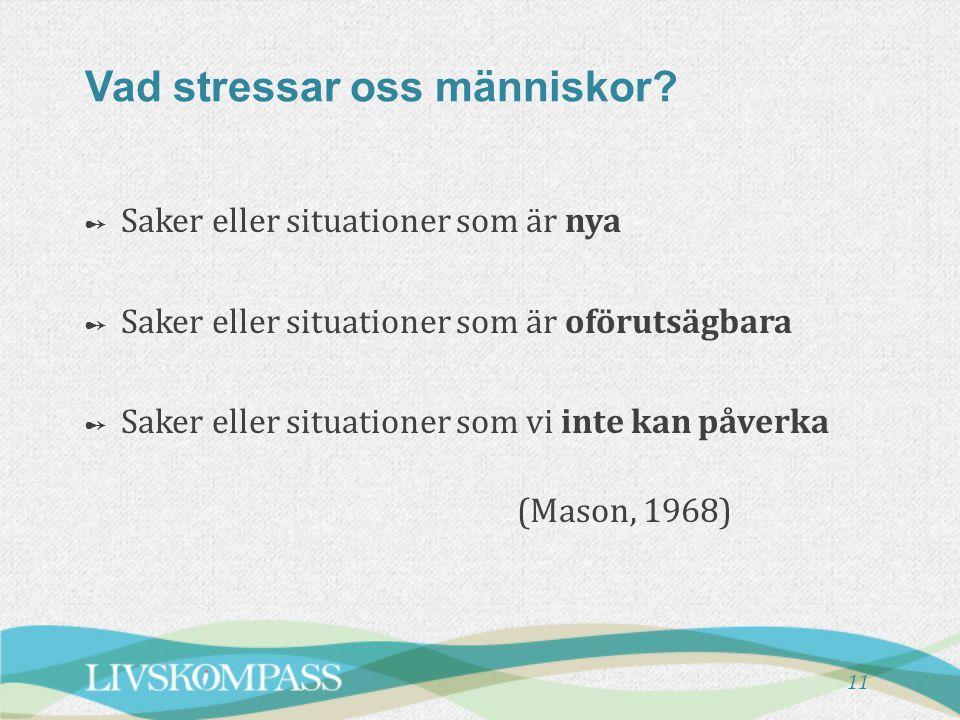 Vad stressar oss människor