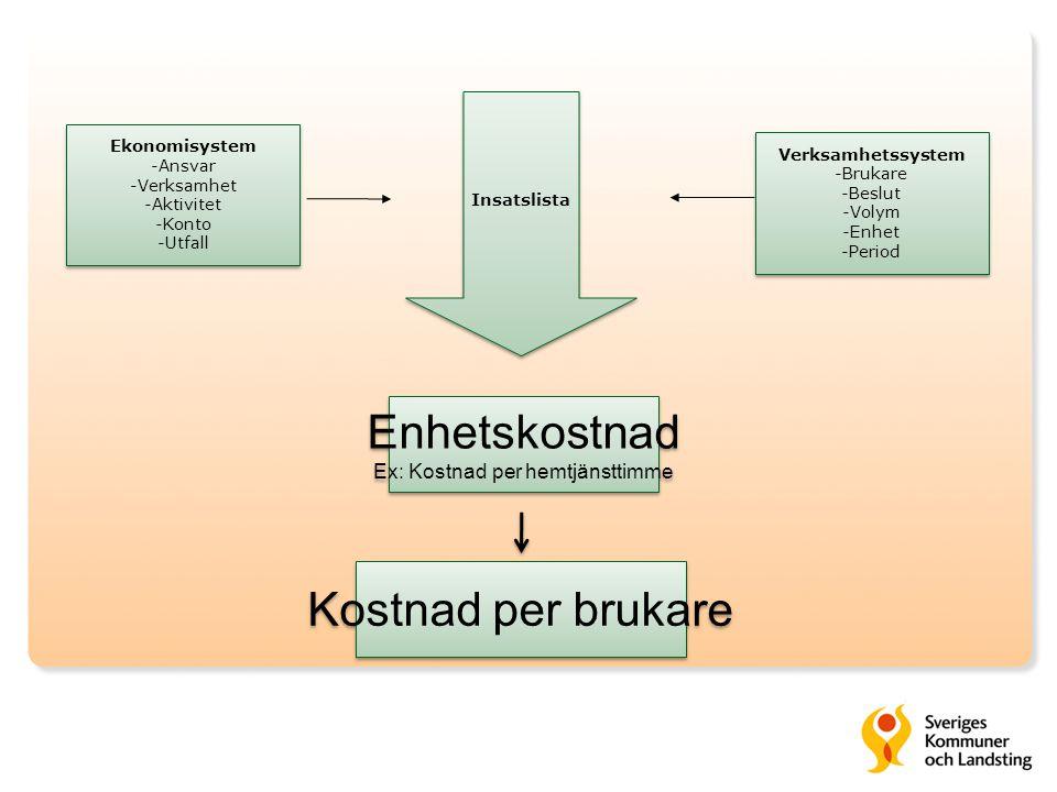 Ex: Kostnad per hemtjänsttimme