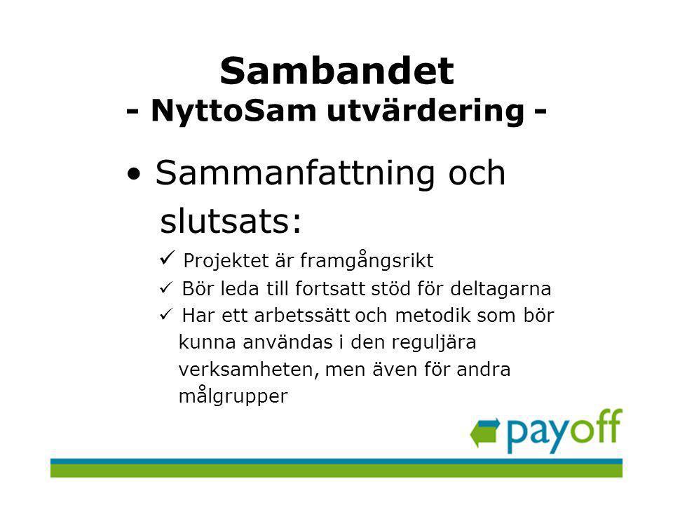 Sambandet - NyttoSam utvärdering -