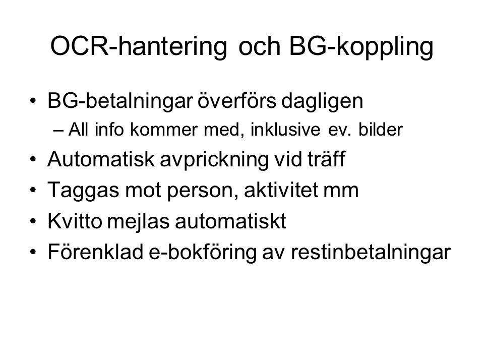 OCR-hantering och BG-koppling