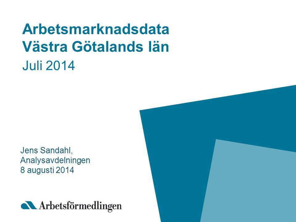 Arbetsmarknadsdata Västra Götalands län