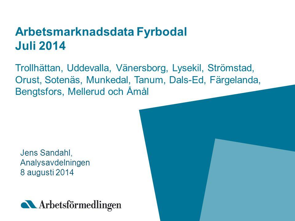 Arbetsmarknadsdata Fyrbodal Juli 2014