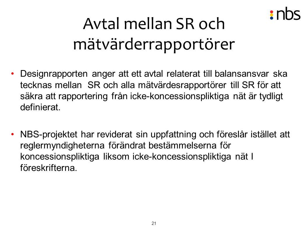 Avtal mellan SR och mätvärderrapportörer