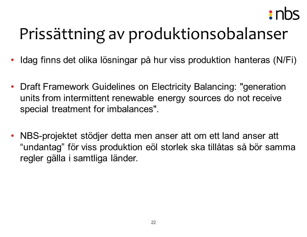 Prissättning av produktionsobalanser