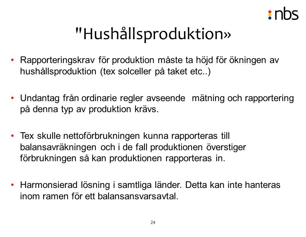 Hushållsproduktion» Rapporteringskrav för produktion måste ta höjd för ökningen av hushållsproduktion (tex solceller på taket etc..)