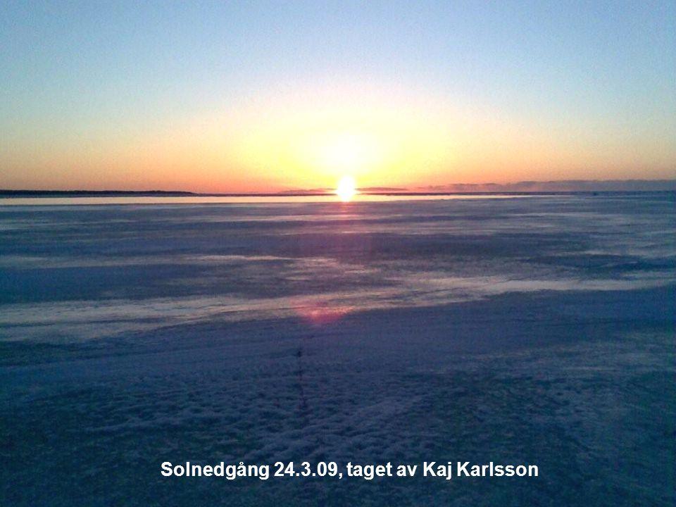 Solnedgång 24.3.09, taget av Kaj Karlsson