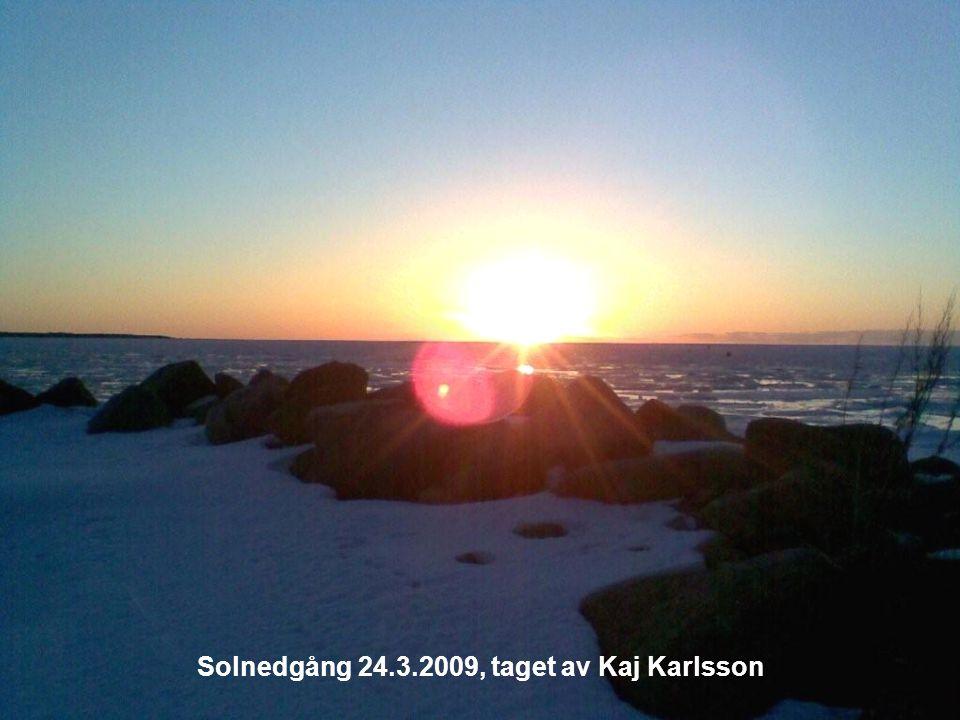 Solnedgång 24.3.2009, taget av Kaj Karlsson