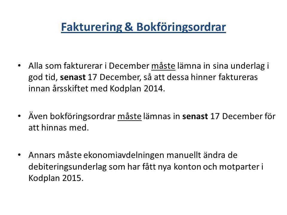 Fakturering & Bokföringsordrar