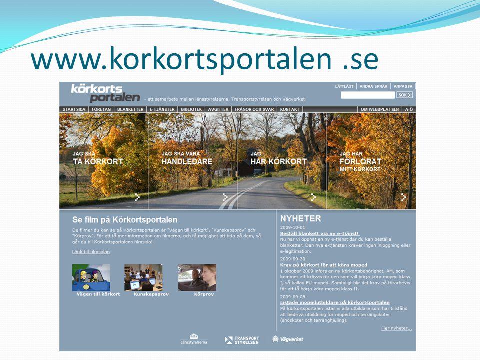 www.korkortsportalen .se