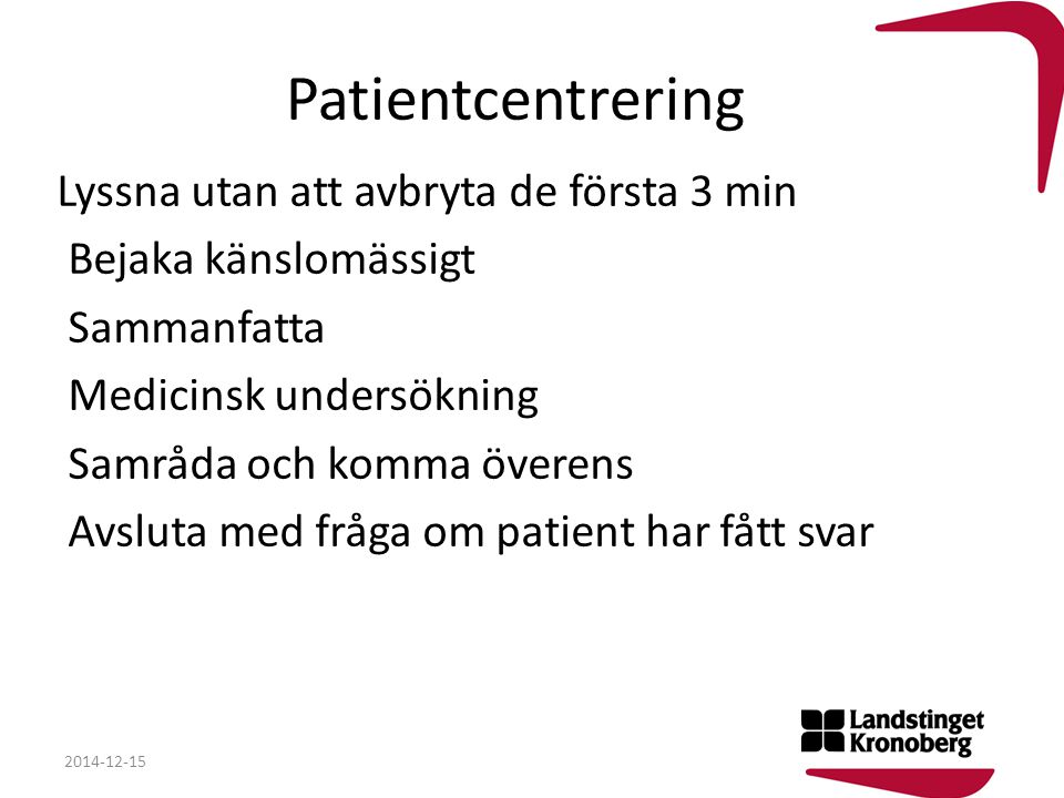 Patientcentrering