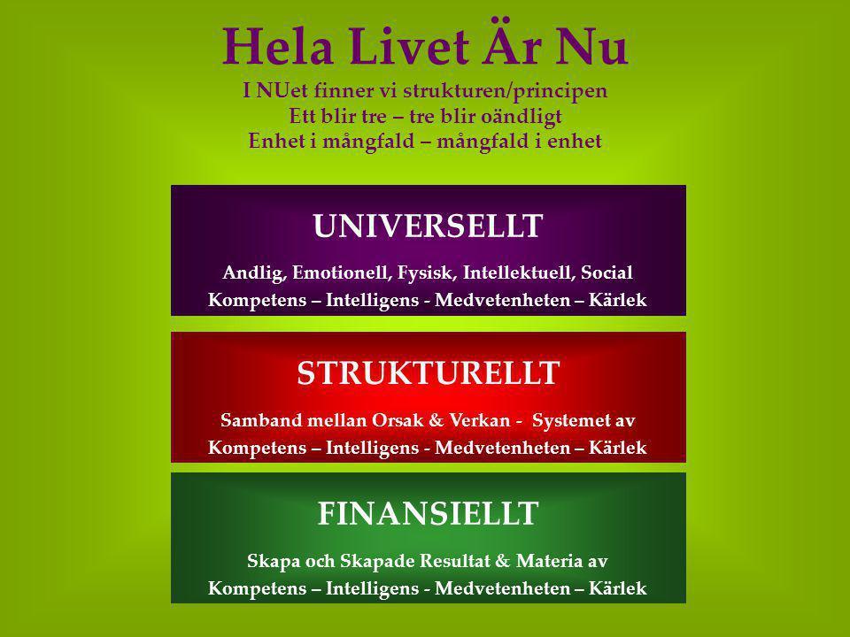 Hela Livet Är Nu UNIVERSELLT STRUKTURELLT FINANSIELLT
