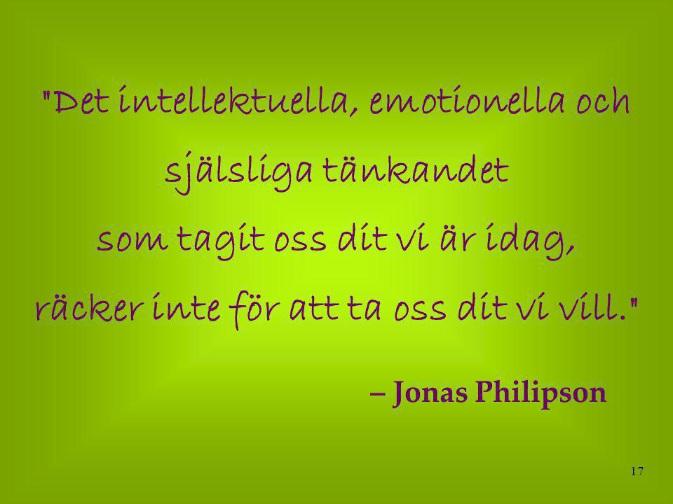 Det intellektuella, emotionella och själsliga tänkandet