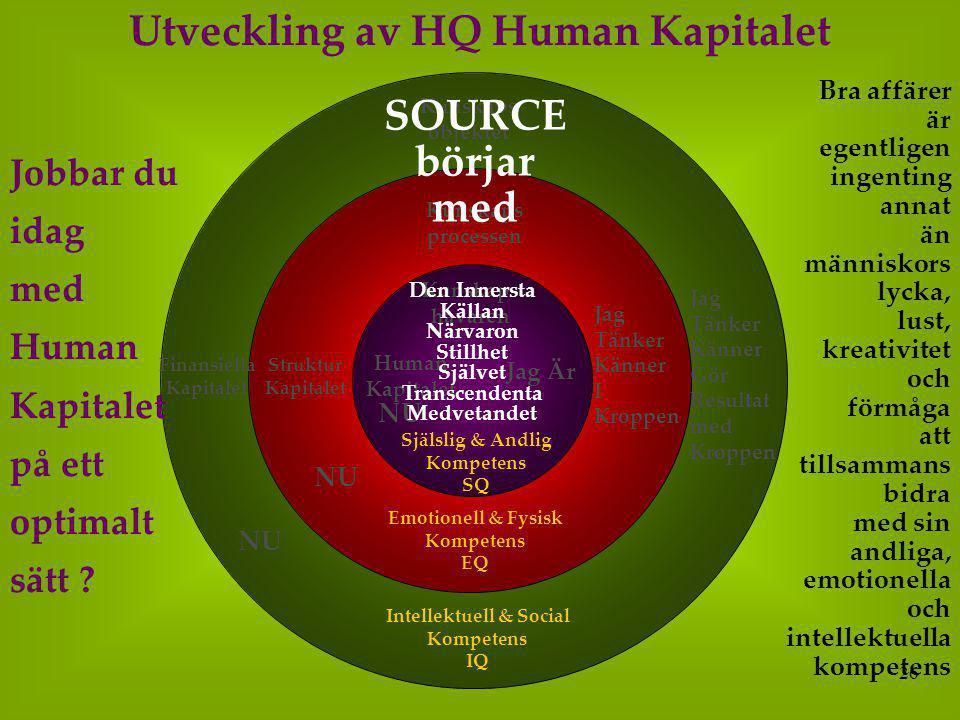 Utveckling av HQ Human Kapitalet Intellektuell & Social