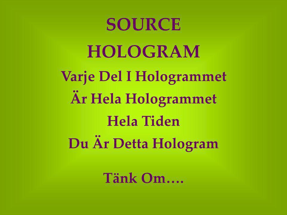 Varje Del I Hologrammet