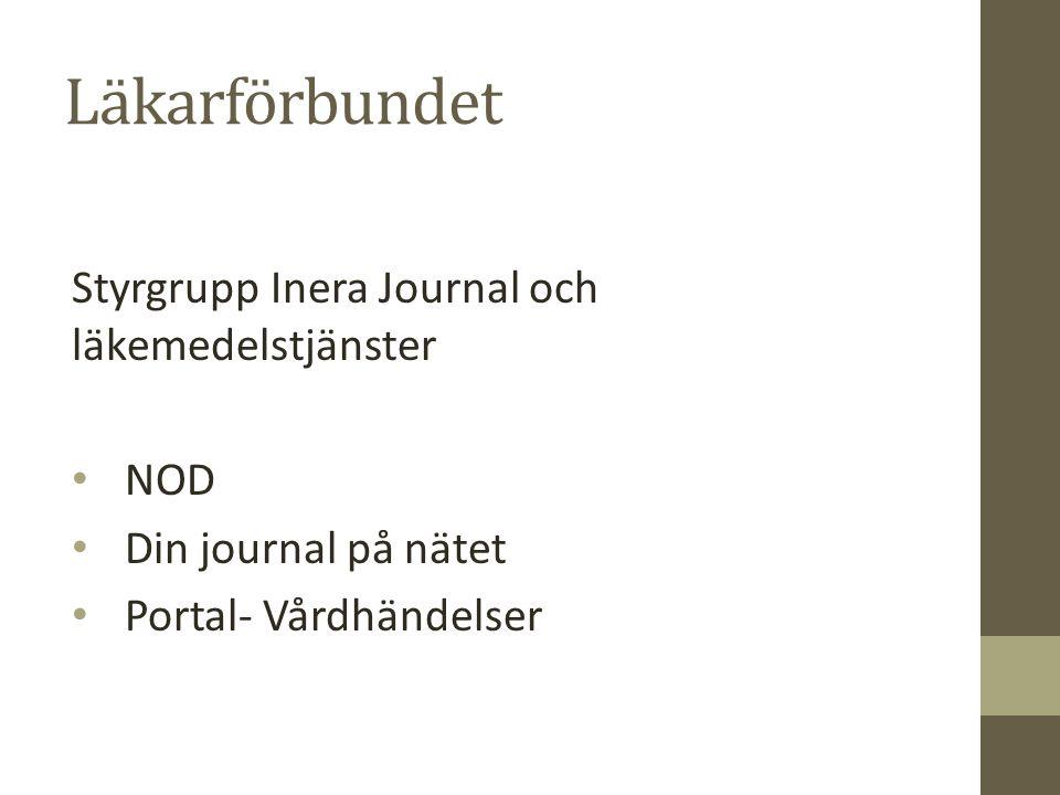 Läkarförbundet Styrgrupp Inera Journal och läkemedelstjänster NOD