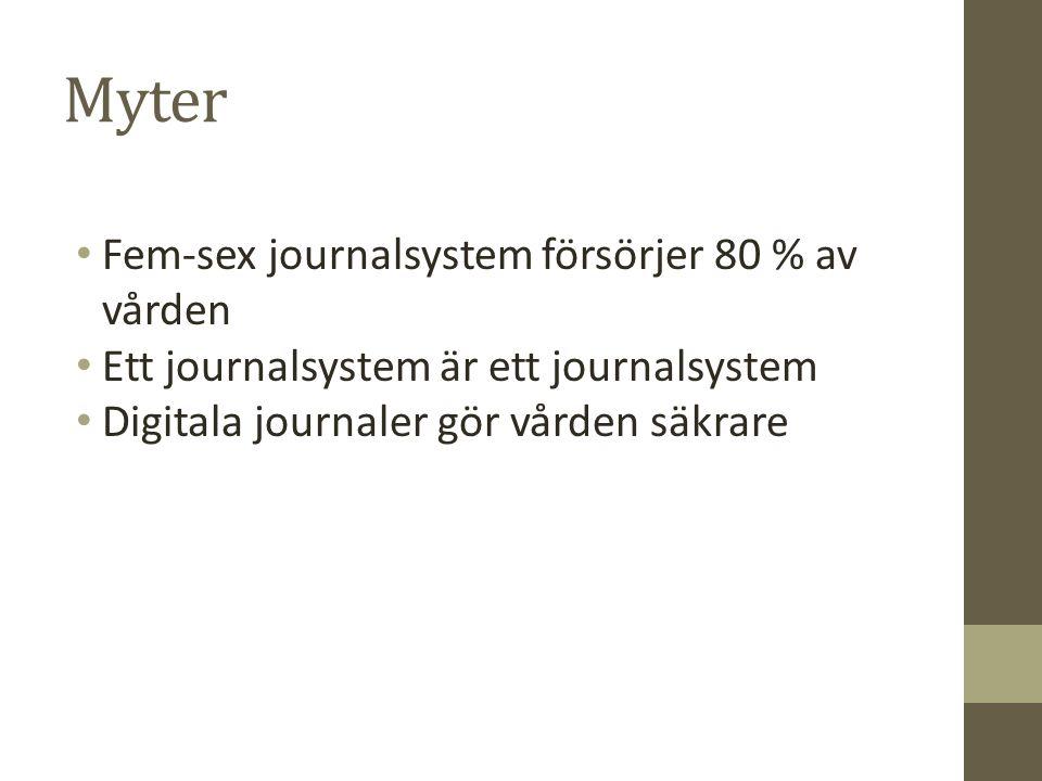 Myter Fem-sex journalsystem försörjer 80 % av vården