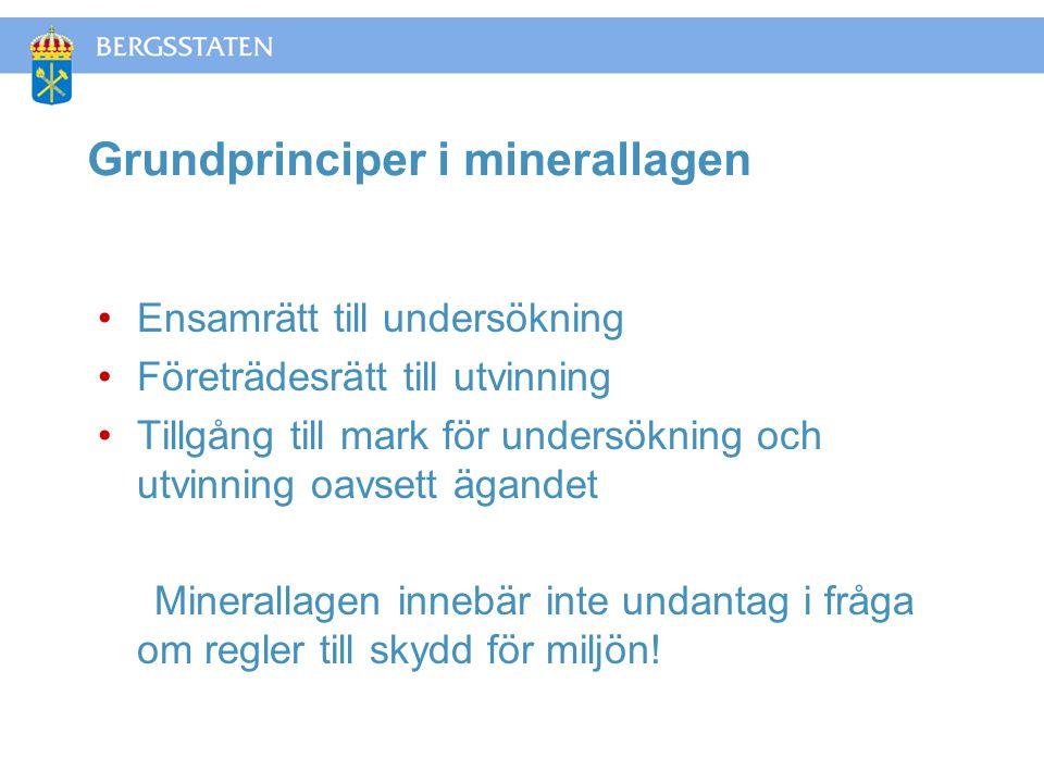 Grundprinciper i minerallagen