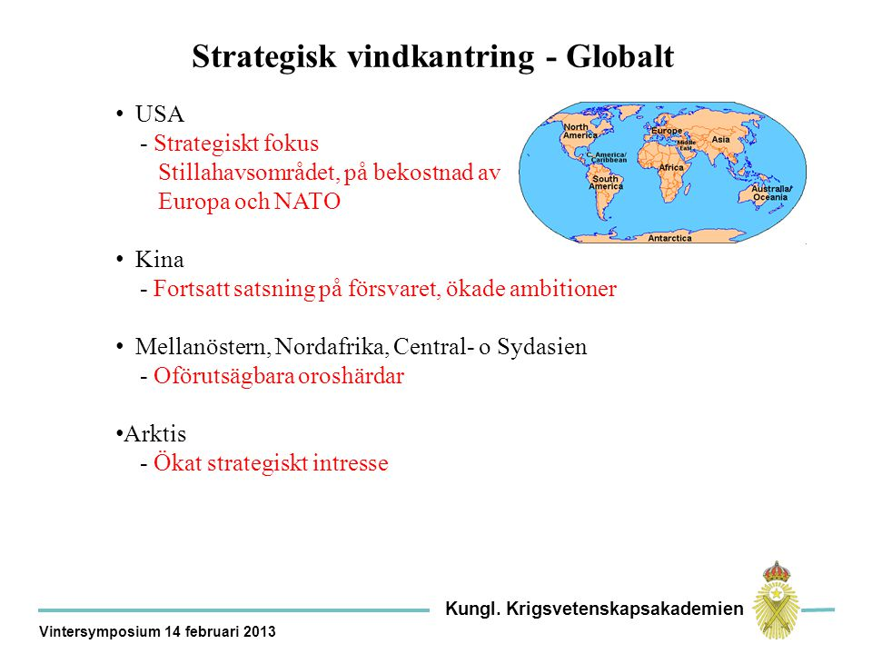 Strategisk vindkantring - Globalt