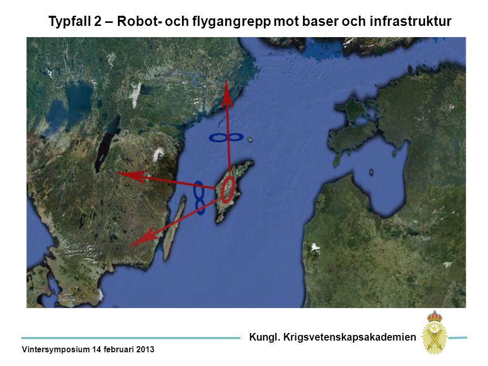 Typfall 2 – Robot- och flygangrepp mot baser och infrastruktur