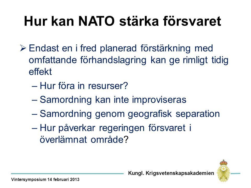 Hur kan NATO stärka försvaret