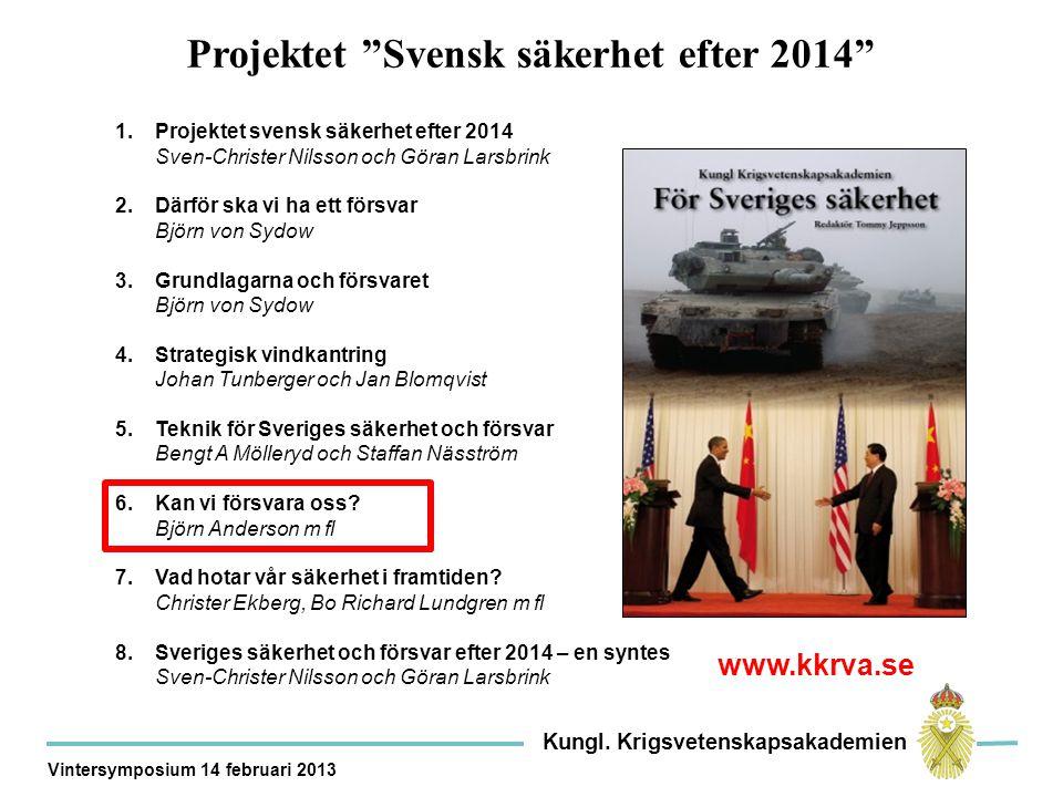 Projektet Svensk säkerhet efter 2014