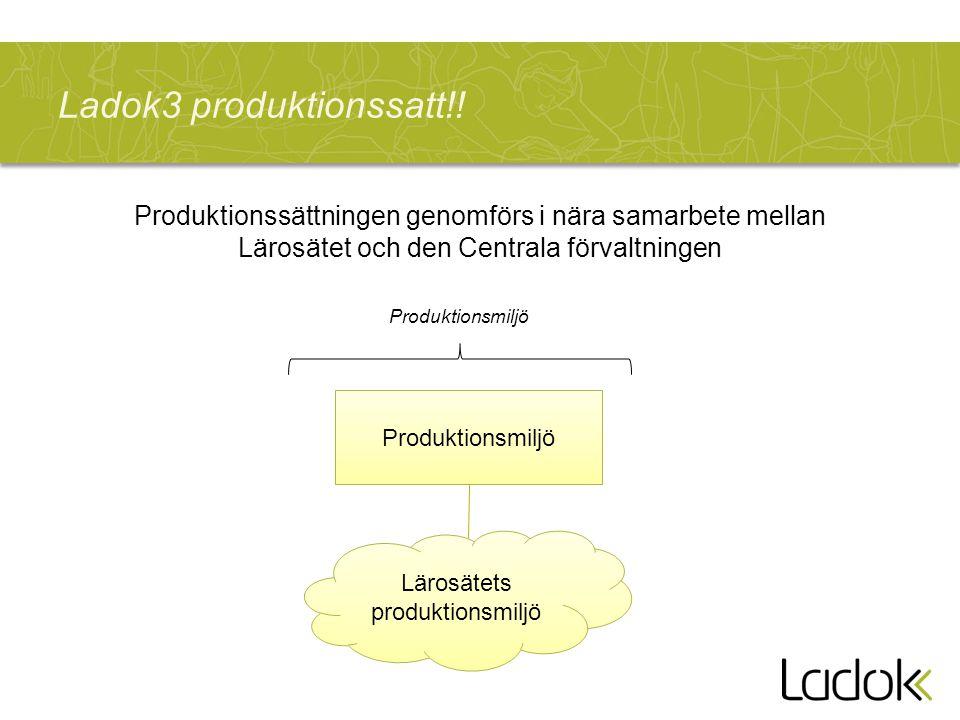 Ladok3 produktionssatt!!