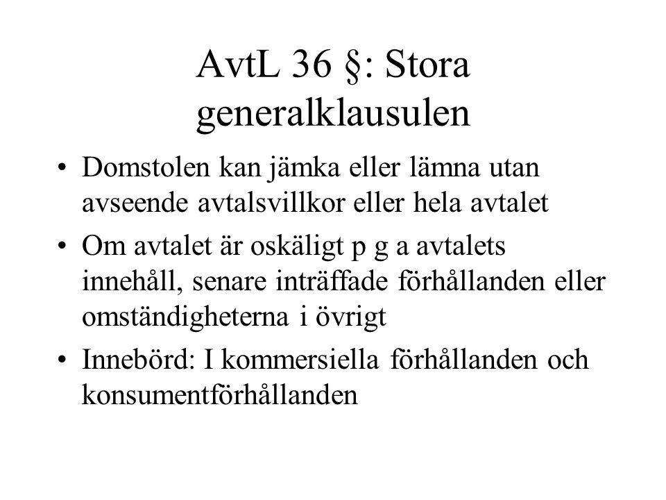 AvtL 36 §: Stora generalklausulen
