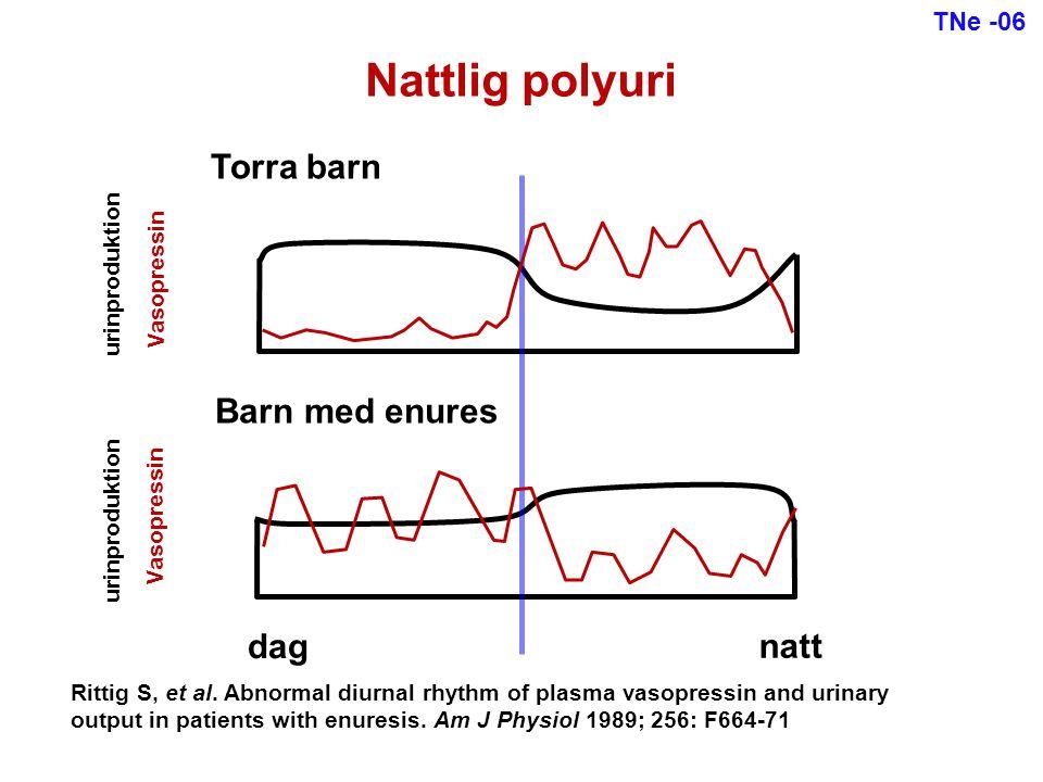 Nattlig polyuri Torra barn Barn med enures dag natt TNe -06