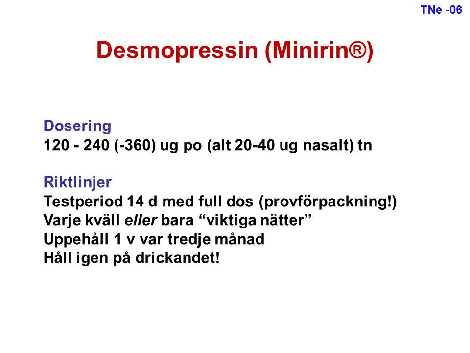 Desmopressin (Minirin®)