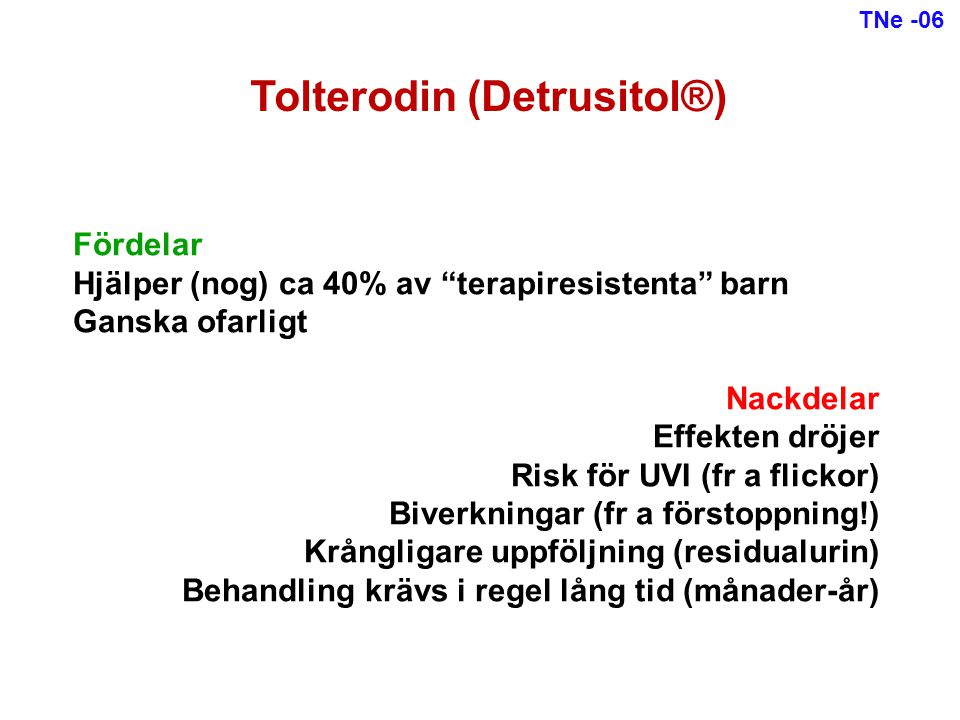 Tolterodin (Detrusitol®)