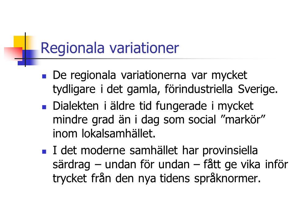 Regionala variationer
