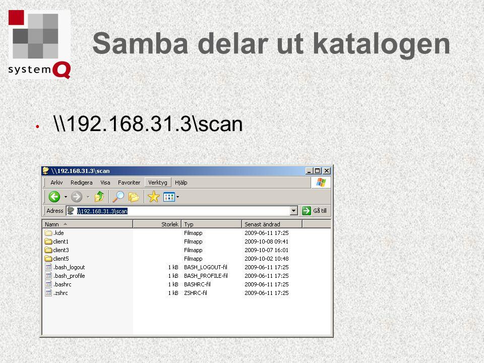 Samba delar ut katalogen